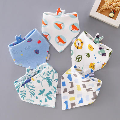 Baby Drool Bib Customised Hot Sale High Quality Scarf Baby Triangle Cotton Drool Bibs