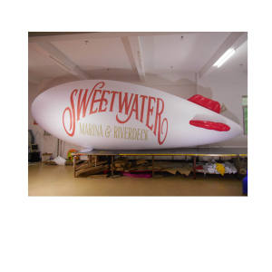8m long inflatable helium blimp shaped brand logo airship advertising zeppelin