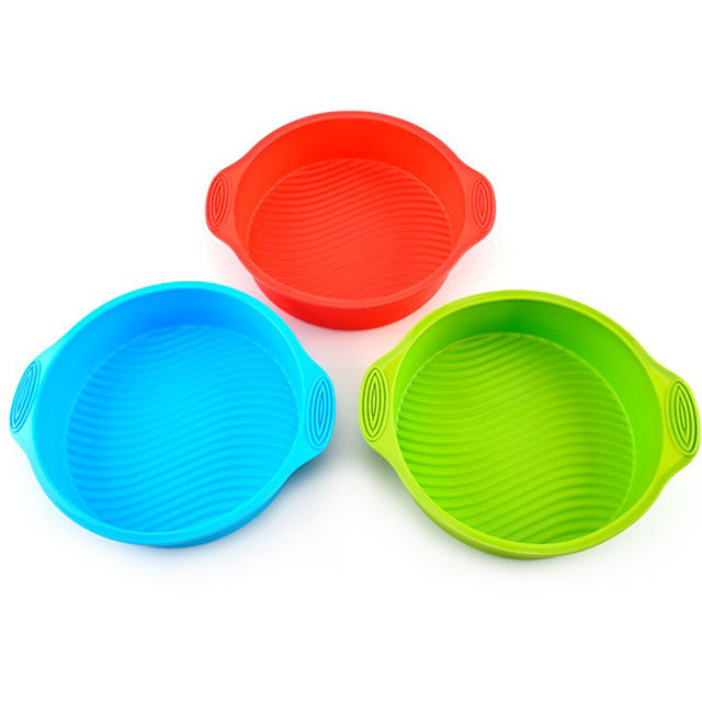 Round silicone cake mold high temperature resistant moon cake mold microwave oven baking tools cake baking tray mold
