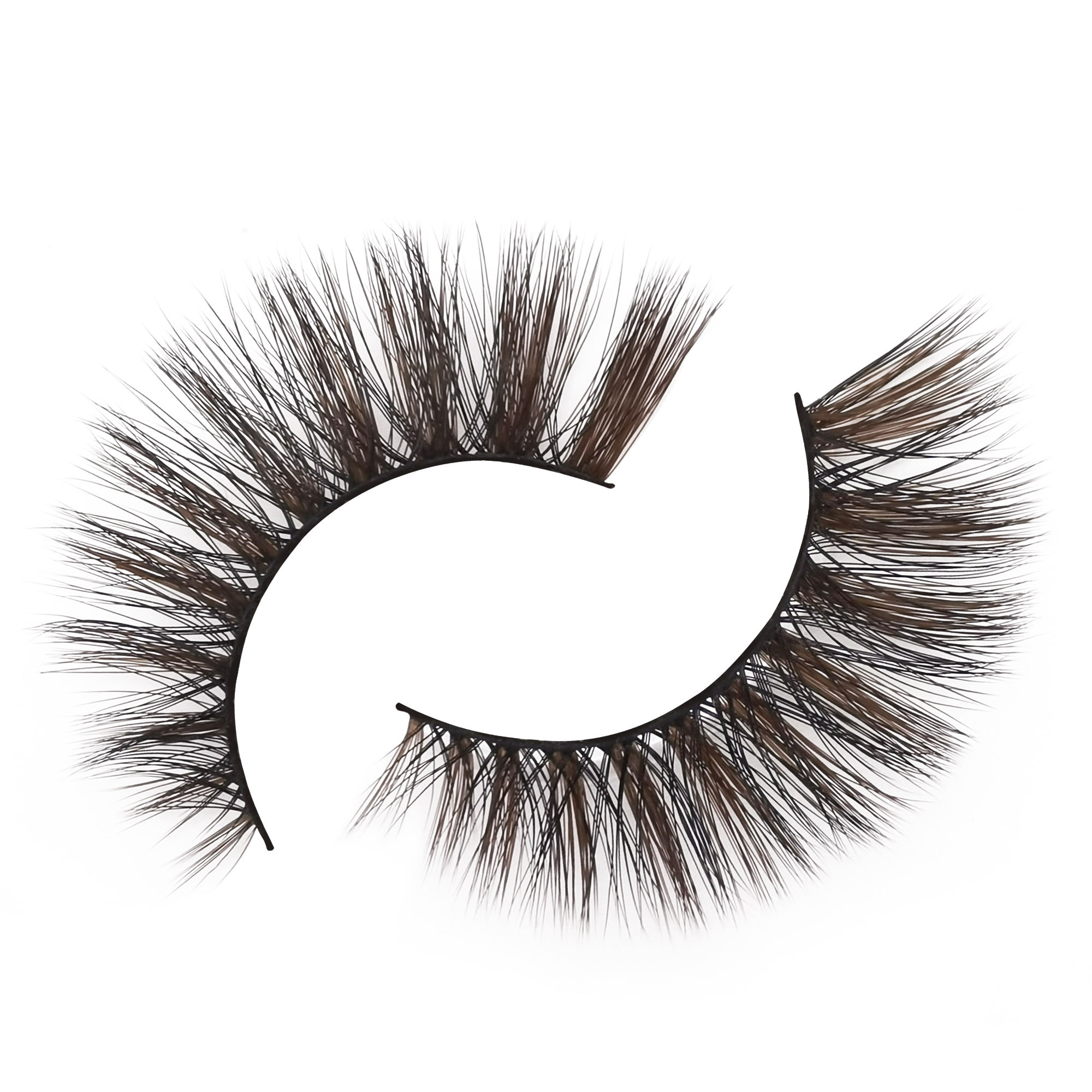 Natural faux mink false Lashes 3D Colorful Strips Eyelashes