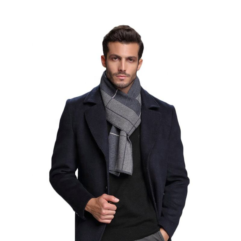 European Style Business Casual Men Long Thick Warm Scarves