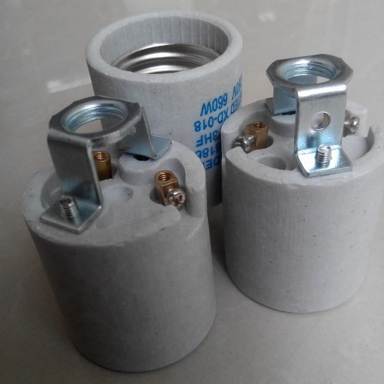 E26 E27 Ceramic Lamp Holder Light Socket with Screw terminals For Edison Bulb Lamp Bases