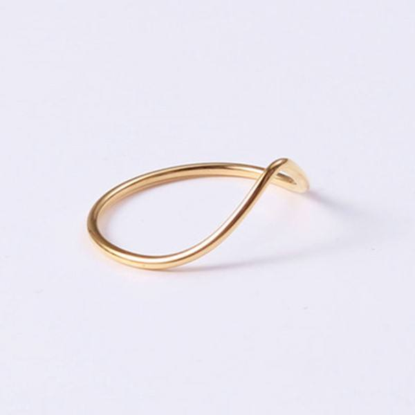 3 4 Size Women Little Finger Dainty Rings Fingers Ring