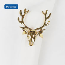 Metal luxury deer napkin ring for christmas decoration