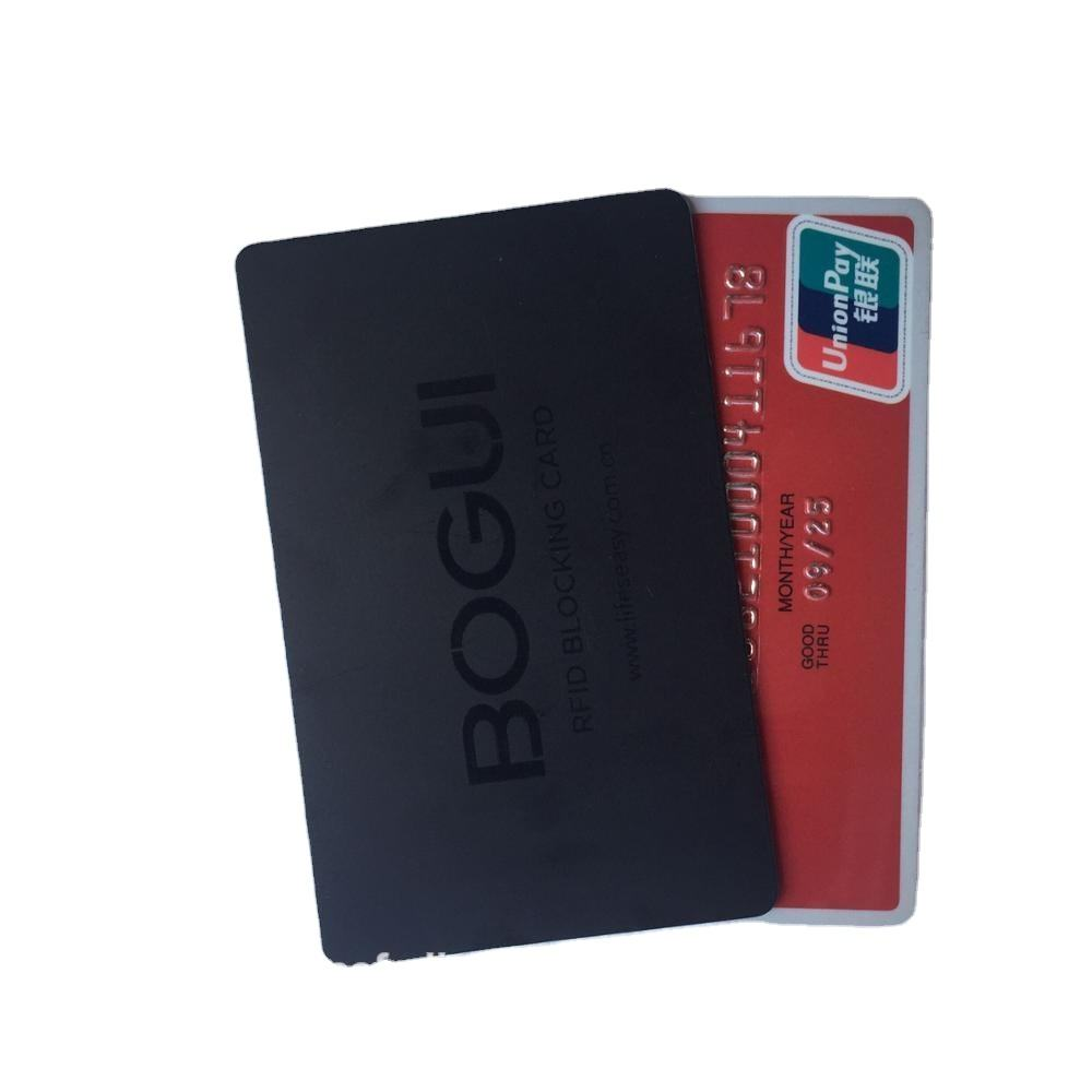 Rfid Blocking Card Te Beschermen Debet/Credit Card