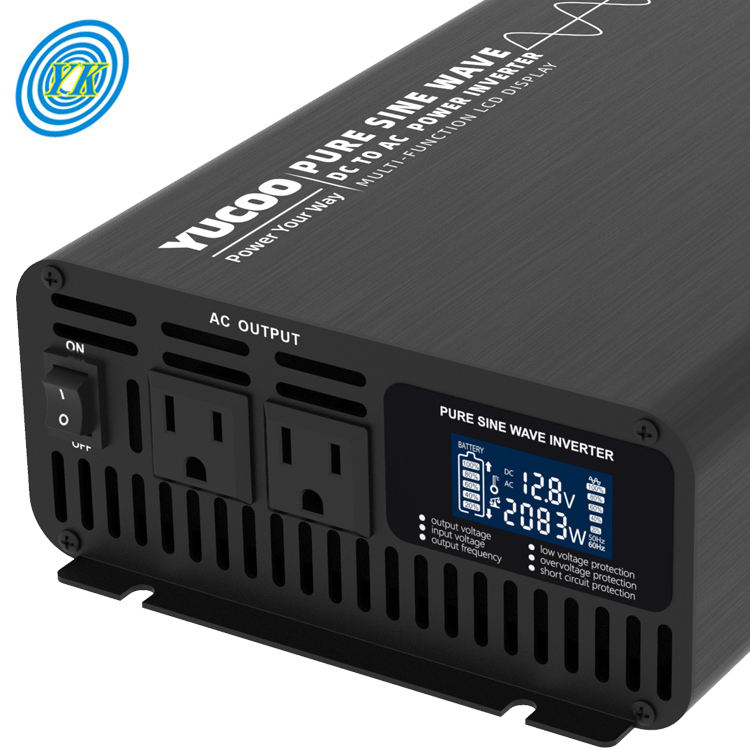 2kw dc 12v 24v 48v to ac 220v pure wave sine power converter inverter