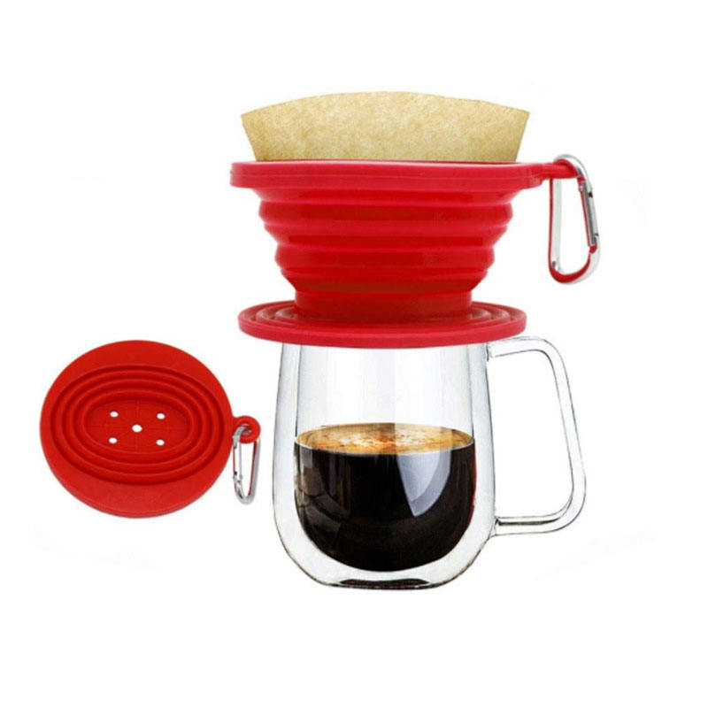 New Design Filter Coffee Cup Dripper Coffee v60 Collapsible Silicone Coffee Filter