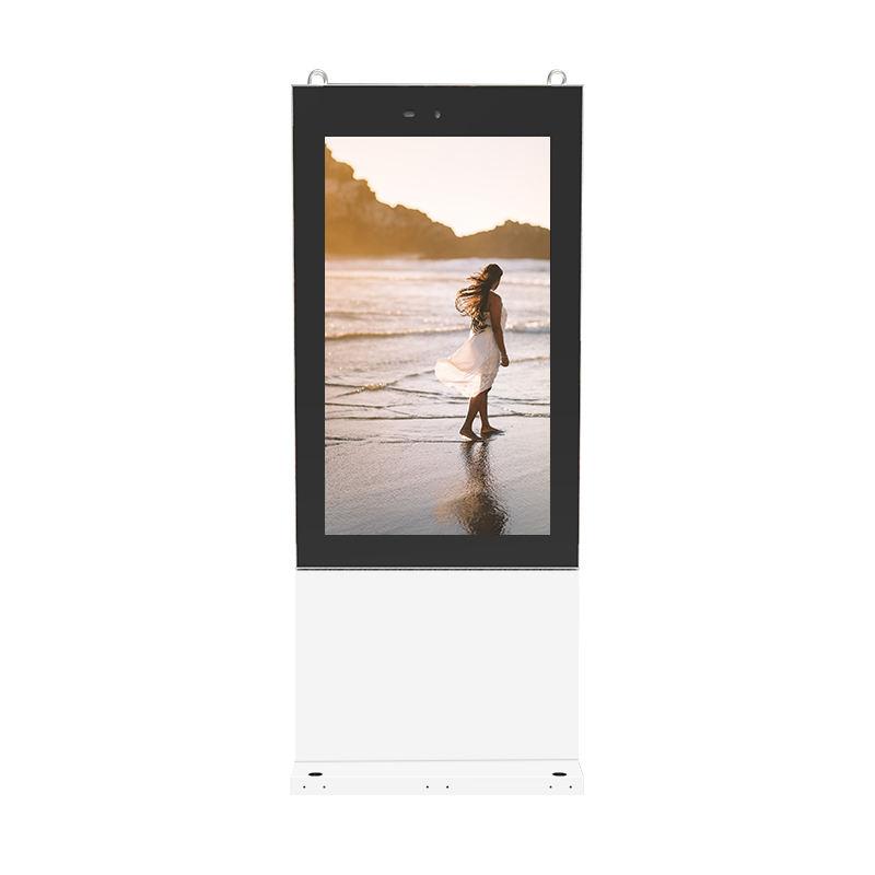 65 pollici totem touch screen digital signage outdoor pubblicità display a cristalli liquidi