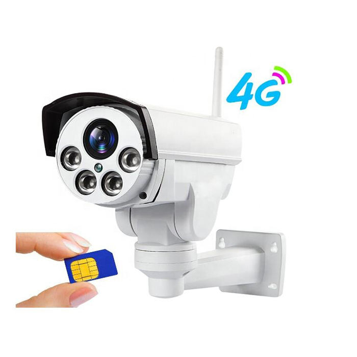 3G 4G solar camera Wifi Outdoor PTZ zoom Wireless cctv IP Camera
