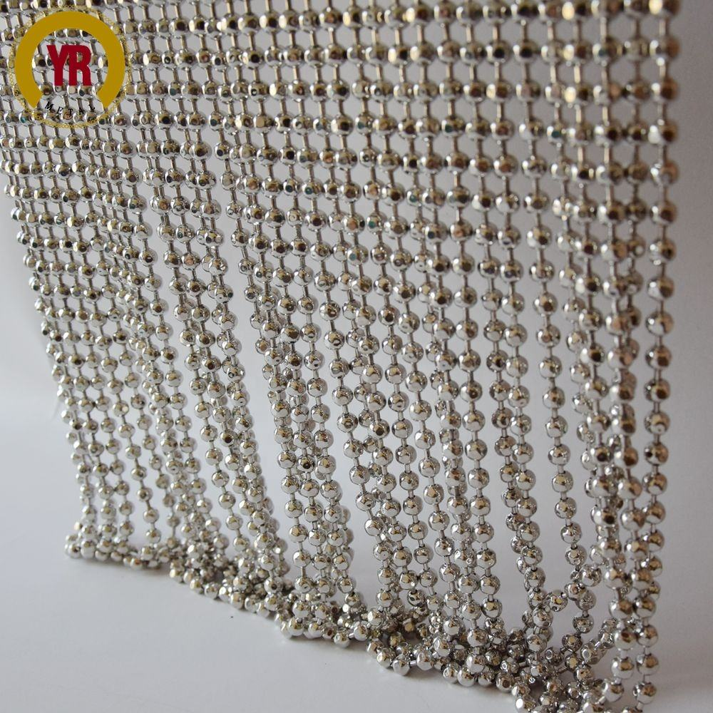 China room divider 6mm metal faceted bead curtain
