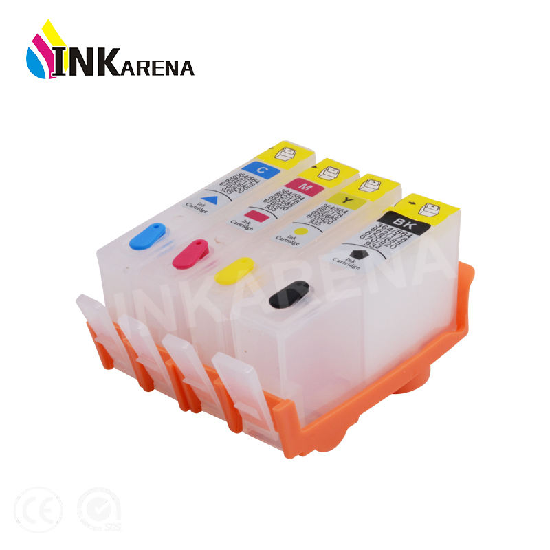 INKARENA Refillable ink cartridge For HP364 Compatible For HP 364 XL for Photosmart D5445 D5460 D5463 D5468 C5324 C5370 Printer