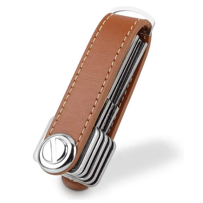 YY Wholesale Compact Key Holder Leather Keychain Smart Key Organizer