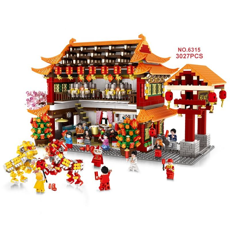Wange 2020 Top sale China New Year's Eve Dinner classical building block bricks model fancy toys Legoingly series kid build toys