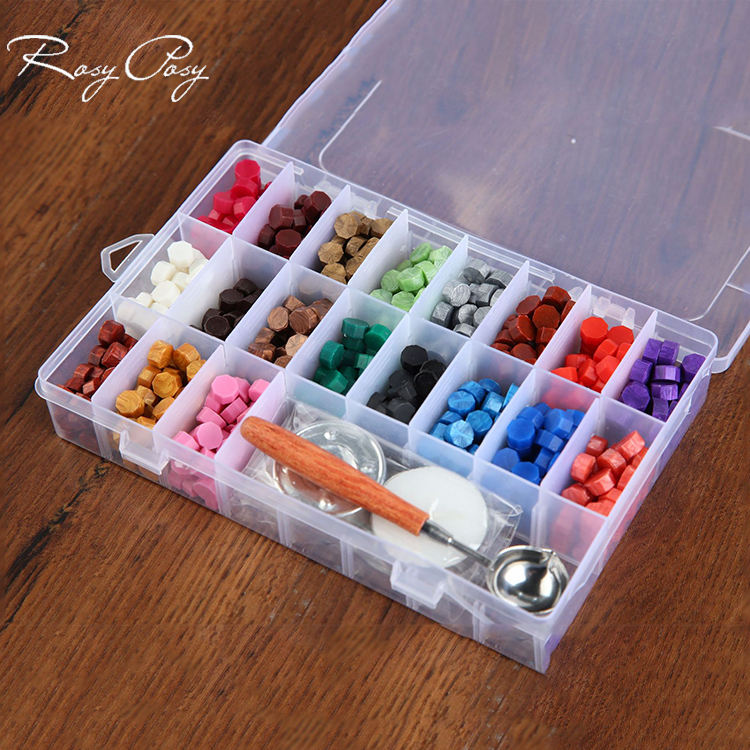 19Colors Wax Sealing Beads Kits for Wax Stamp Seal