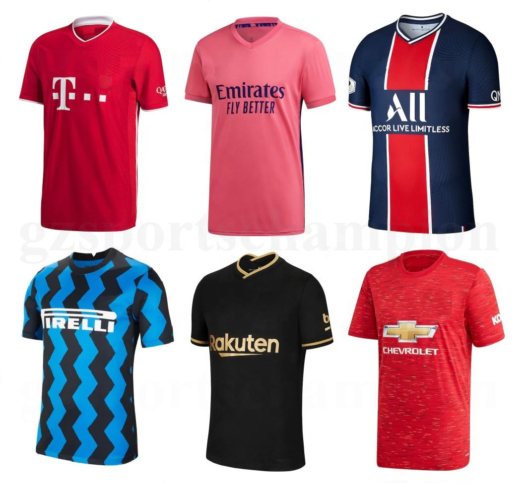 Soccer Jersey Set 2021 Men Football Jersey Team New Model United Football Shirt Real Thai quality Football Jersey Soccer