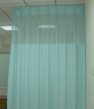 Buckle/Tube Curtain Hospital Curtains Solid Color Hospital Medical Folding Fabric Sickbed Partition Curtain