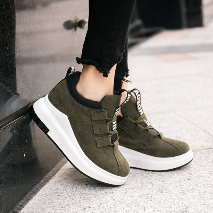 Nice latest spring new design fashion comfort lace-up nice sport woman casual shoes