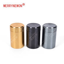 60g/ml small decorative aluminum food tin spices packing tin box canister jar tea caddy with lid