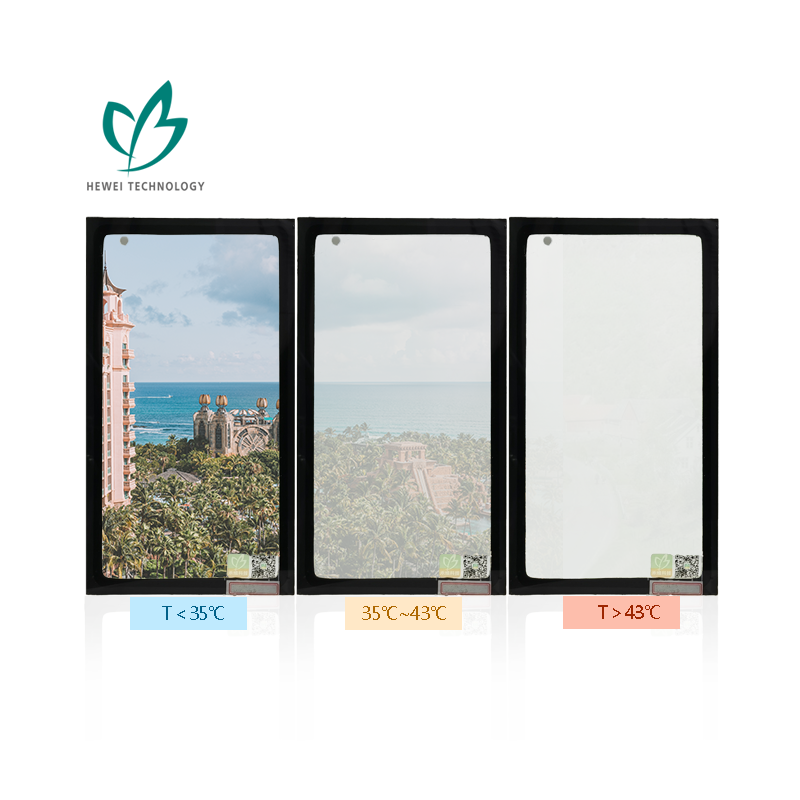 HEWEI High Quality Automatic Frosting Glass Dynamic Sun Shading Smart Building Glass for Healthcare Building wall
