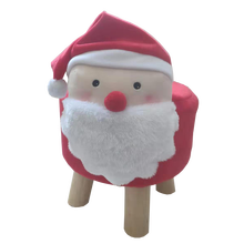 Cute Santa Claus Shape Child Chair Wooden Stool baby animal stool fox style animal ottoman pouf