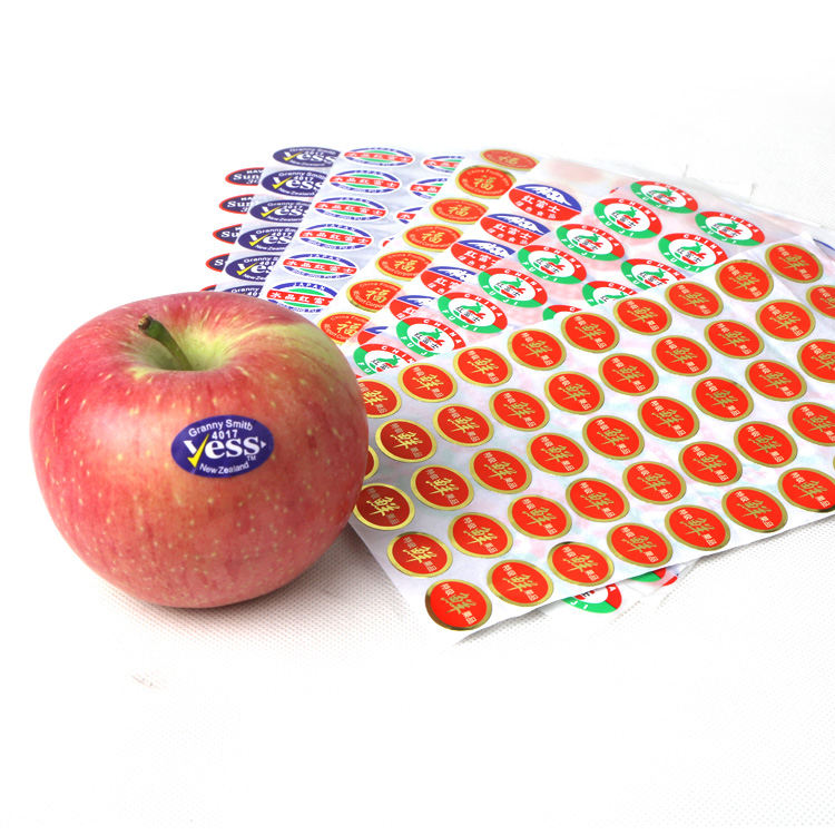 No residue environmental protection removable paper barcode stickers adhesive fruit labels