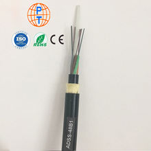 Direct bury heavy duty optic cable overhead g652d double sheath long span 12/24/48 cores adss  optic fiber optic cable