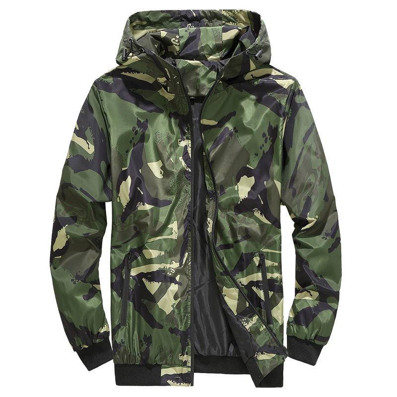 men clothing 2020 spring camouflage printing jacket homme men's jackets coats