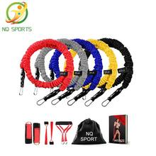 11PCS Fitness Latex Resistance Bands Exercise Set