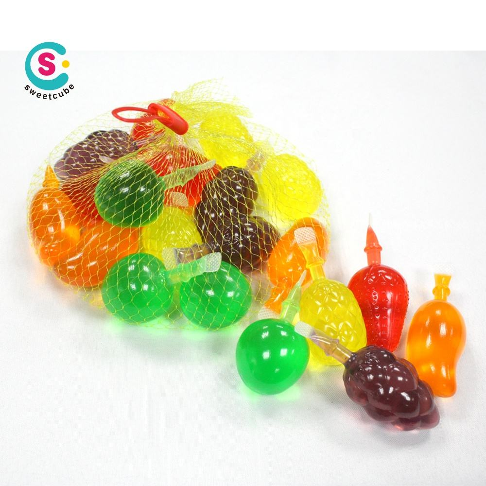 hot sell mixed fruit shape color jelly gummy gel candy in bottle