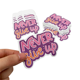 Custom Personalized Adhesive Vinyl Stickers Individual Die Cut Label for Promotion