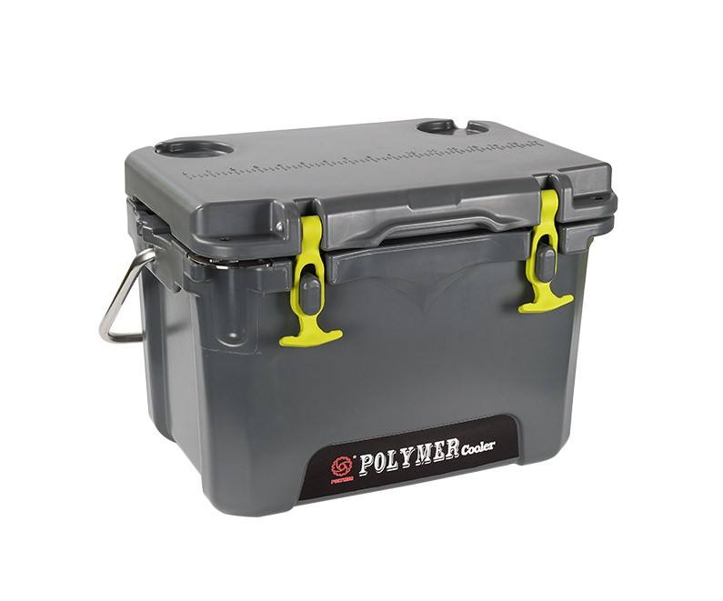 Mini Perjalanan Outdoor Plastik Makanan Es Cooler Box Rotomolded Portable 84 Jam untuk Hiking, Finishing