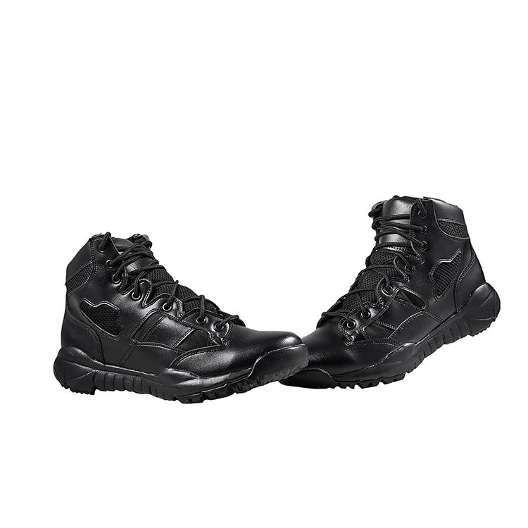 Black Leather Outdoor Military Army Police Infantry Walking Hunting Men Combat Tactical Boots