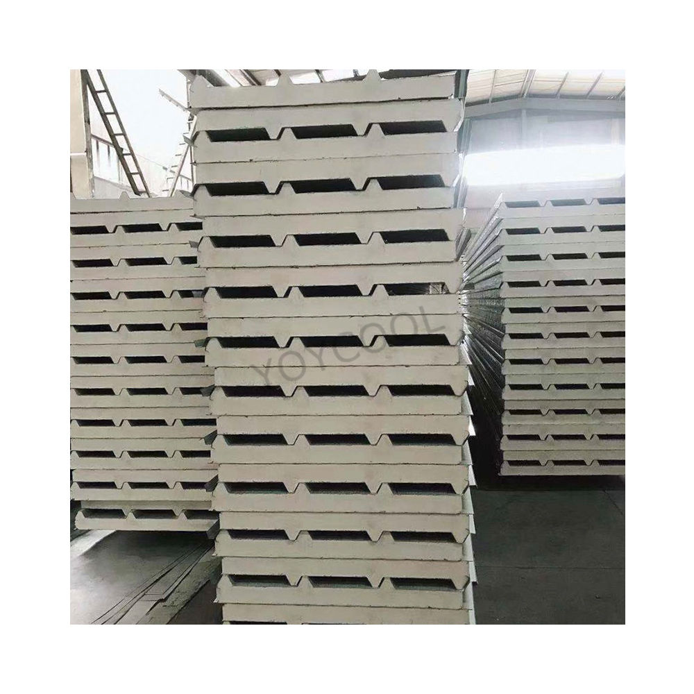 pu sandwich panel Good insulated roof panel building roof eps/PU/rockwool sandwich panel thickness