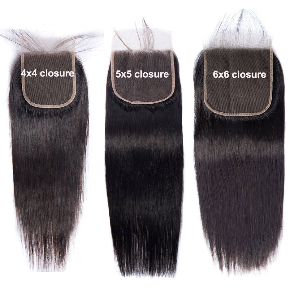 Top Quality Cheap price silky straight lace closure human hair closure weave size 4x4 Straight Lace closure hair