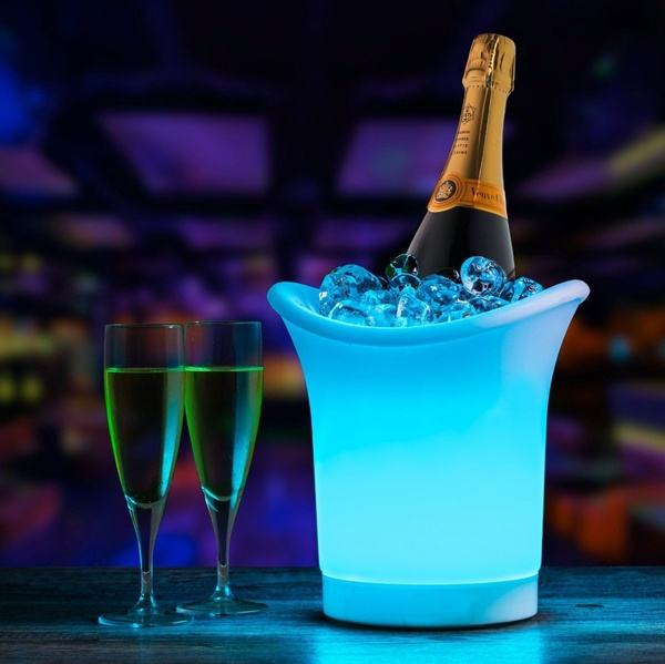LED Ice Bucket 7 Colors Gradient Changing Luminous Plastic Champagne Wine Drinks Cooler Bucket