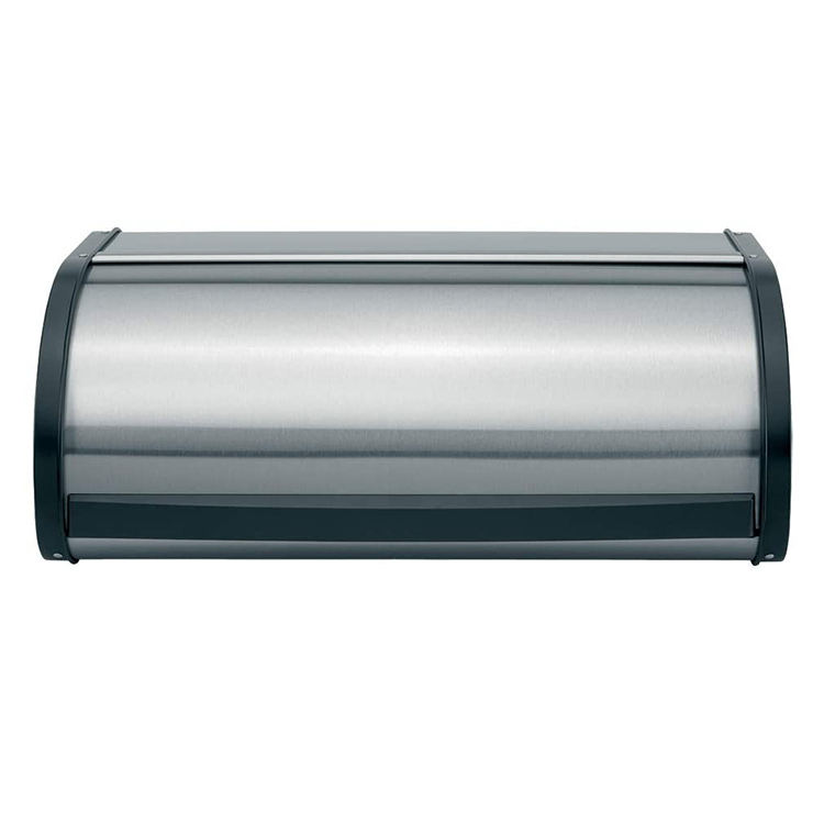 Reliable and Good metal stainless steel Bread bin Roll Top Bread Box