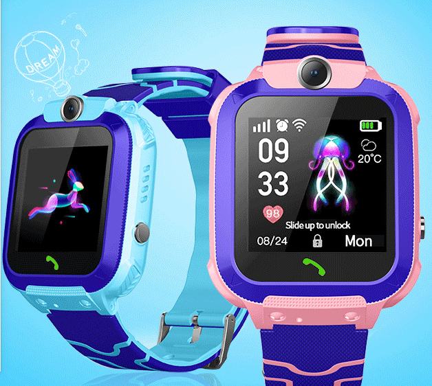 Kids Smart Phone Watch Q12B Watches for Android For IOS Life Waterproof