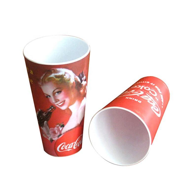 con el medio ambiente vajilla forma personalizada taza de plástico restaurante <span class=keywords><strong>casa</strong></span> 21OZ de melamina de vaso