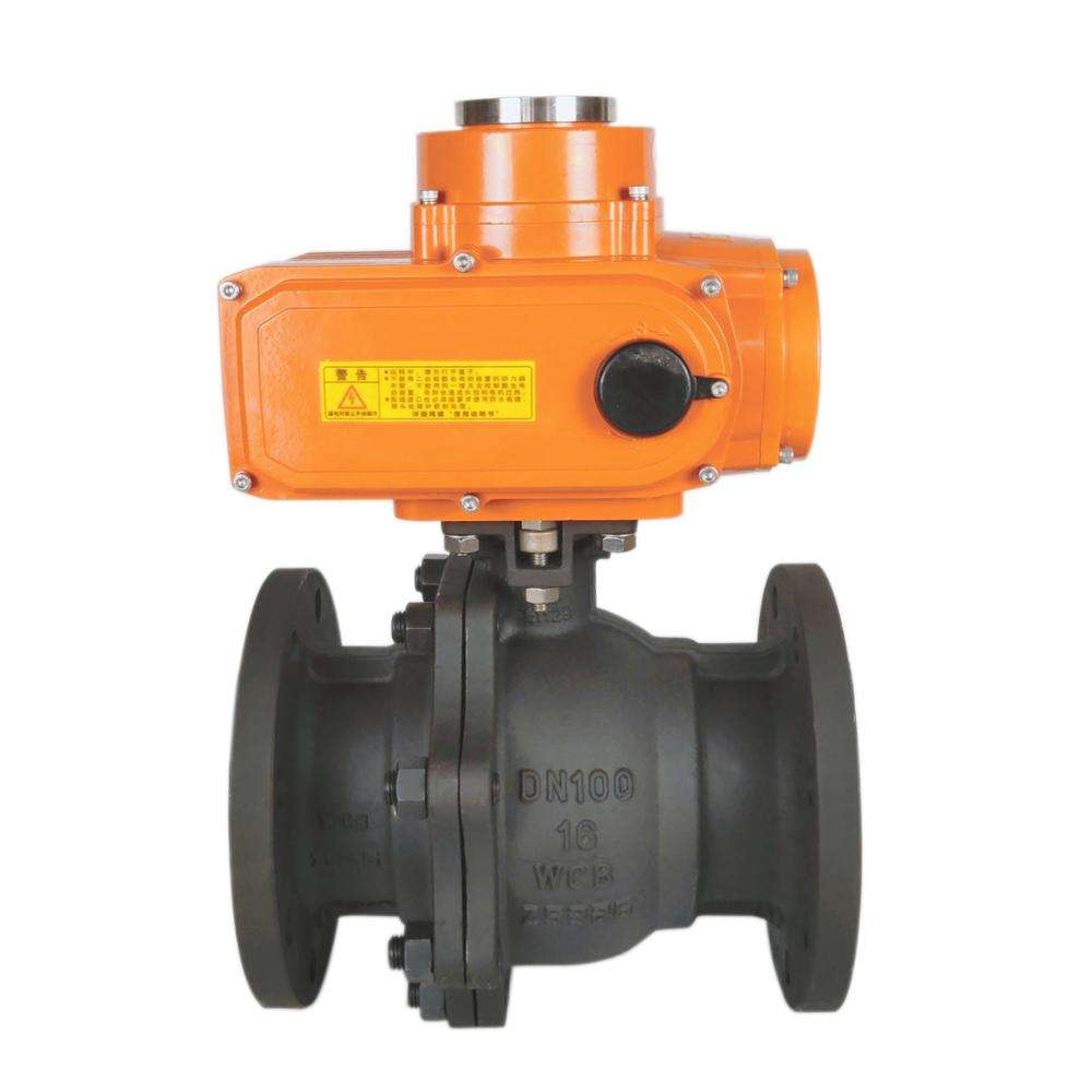 Remote control explosion-proof electric actuator flow control ball valve