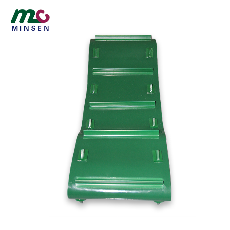PVC Green Special Baffle Conveyor Belt Customized For Special