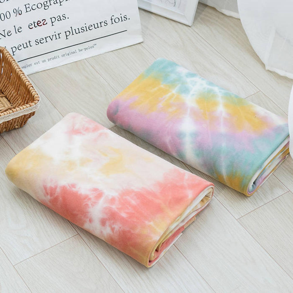 Manufacturer 100% cotton composition tie dye french terry fabric for sale