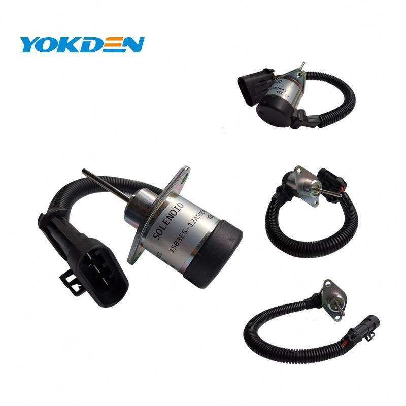 1503ES-12A5UC4S for Kubota Stop Solenoid, Solenoid for Bobcat Engine Spare Parts Model