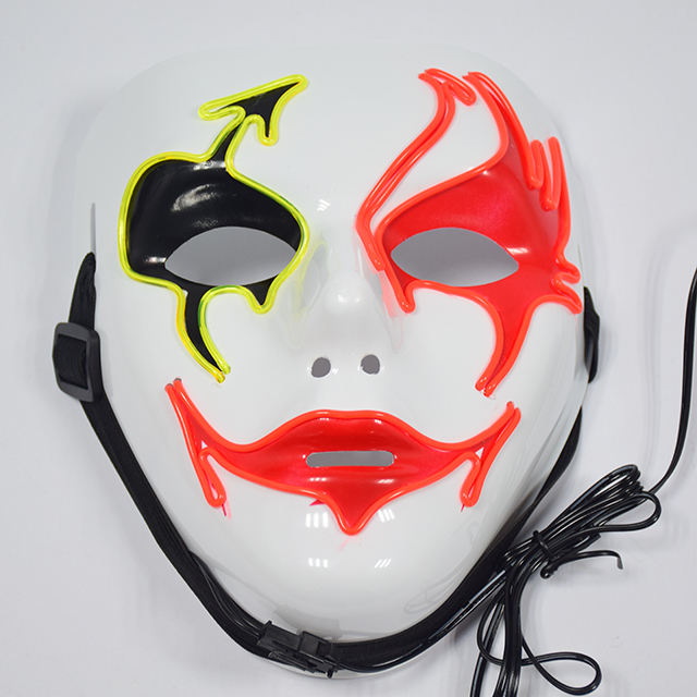 Led Masquerade Mask Halloween Masquerade Carnival Rave Led Light Up Neon El Wire Mask For Festival Parties Costume