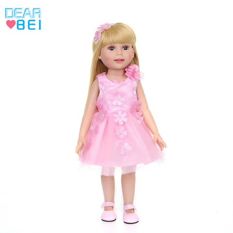 2020 Pink Princess Dress Noble Party Gown For Girl Doll Fashion Design Clothes Dress Best Gift For Girl' Doll Dress