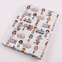 health care doctor Printing poplin fabric 100% woven cotton fabric cotton printed fabrics