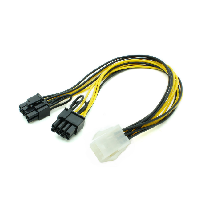 SATA 15 Pin Male To PCI-E PCI Express 6Pin Video Card Power Adapter Cable HOT!!!