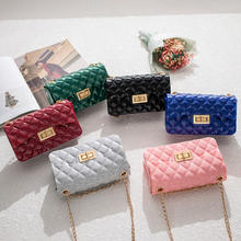 FLB161 2020 mini bag hotsale promotion hand jelly bag silicon purses with chain