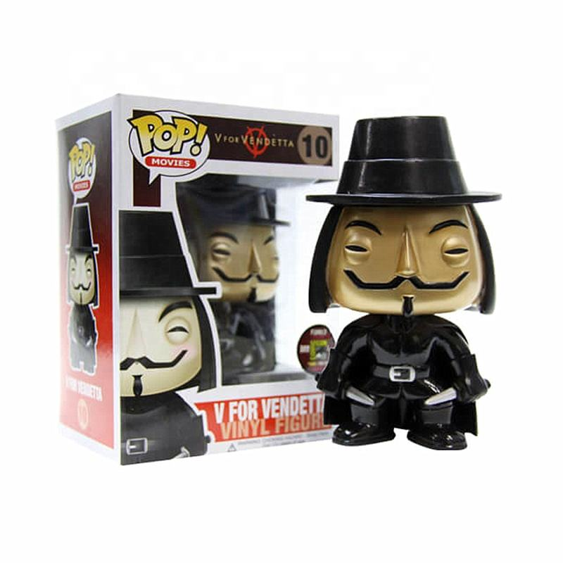 FUNK POP Model Vinyl Figure Collectible Model Toy Gold limited V for Vendetta gift