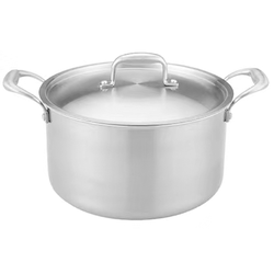 Stainless steel deep soup pot health uncoated soup pot kitchen set