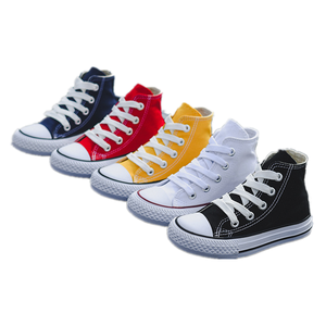 2020 Summer New classic children high top canvas shoes,Wholesale Students Unisex Boys girl flat plimsolls Casual Shoes Kids